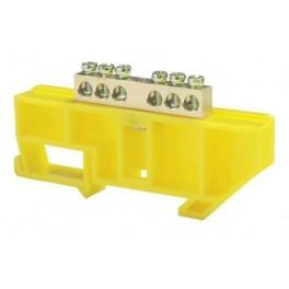 Шина нулевая 'N' 6 6х9 мм (с жёлтым DIN-изолятором)