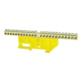 Шина нулевая 'N' 24 6х9 мм (с жёлтым DIN-изолятором)