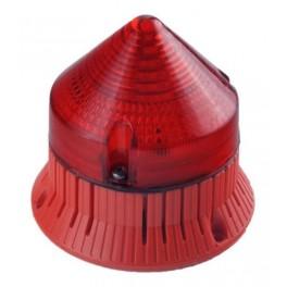 Светозвуковой мигающий сигнал CTLA1200FCL24DA3 красный IP30 (33783)