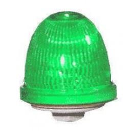 Маяк проблесковый ксенон. OVOFMT12240DA4 зеленый 12/240В IP65 (30014)
