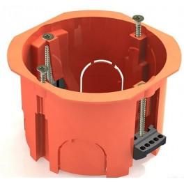 Коробка установочная с/у 1-но мест. D=65мм,Н=45мм для полых стен пласт. зажимы