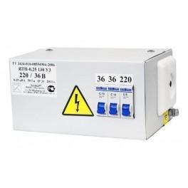 Ящик с пониж. трансформатором ЯТП-ОСО-0,25 220/36 В (3 автомата)