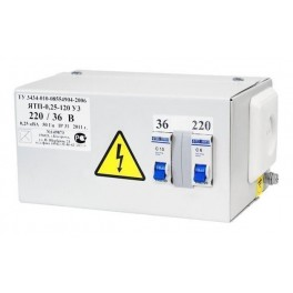 Ящик с пониж. трансформатором ЯТП-ОСО-0,25 220/12 В (2 автомата)