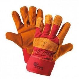 Перчатки спилковые комбинированные 'Русские львы' утепленные (для сварки)