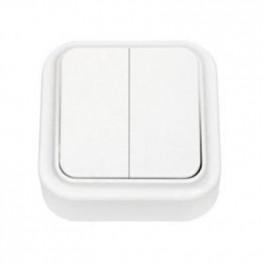 Выключатель 'Пралеска' белый о\у 2кл. (250В,6А)