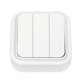 Выключатель 'Пралеска' белый о\у 3кл. (250В,6А)