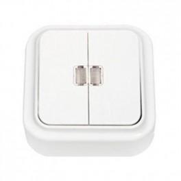 Выключатель 'Пралеска' белый о\у 2кл. с подсветкой (250В,10А)