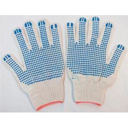 Перчатки с ПВХ 5-ти нитка 10 класс 'Точка' х/б