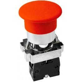 Кнопочный выключатель LAY5-BС42 'Грибок' красный 1р