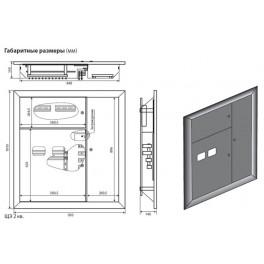Корпуса этажных щитов Корпус Щита Этажного 4 кв (1010х955х160)