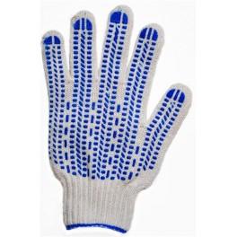 Перчатки с ПВХ 4-х нитка 10 класс 'Протектор' х/б